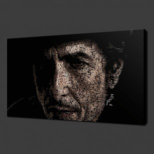 Bob Dylan Typography Canvas Art