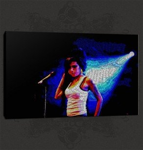 Amy Winehouse Canvas Print Art