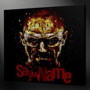 Breaking Bad Typography Canvas Print
