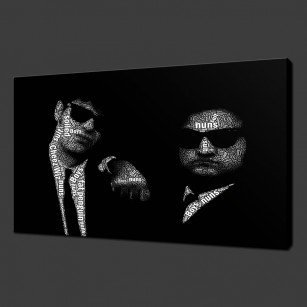 Blue Brothers Canvas Print Art