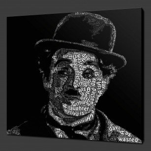Charlie Chaplin Canvas Print Art