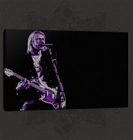 Kurt Cobain Nirvana Canvas Print Art