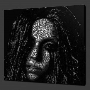 Lady Gaga Canvas Print Art