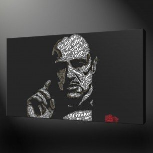 Godfather Marlon Brando Canvas Print Art