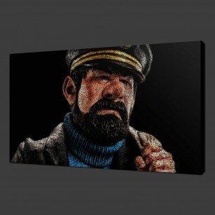 Captain Haddock Canvas Print Wall Art
