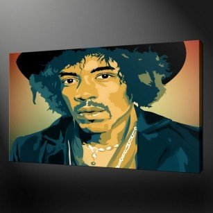 Jimi Hendrix Canvas Print Art