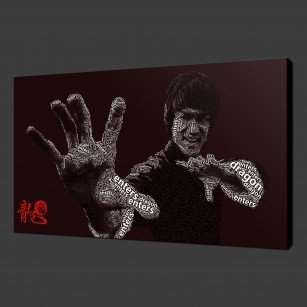 Bruce Lee Canvas Print Art