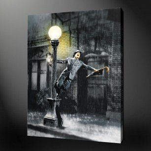 Dancing in the rain canvas art