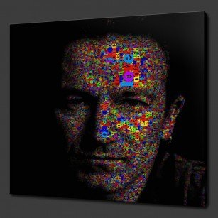 Bono U2 Canvas Art