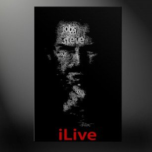 Steve Jobs canvas print art