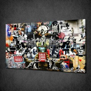 BANKSY COLLECTION CANVAS PRINT PICTURE