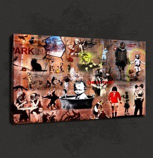 BANKSY COLLECTION CANVAS PRINT WALL ART