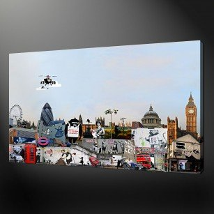 BANKSY COLLECTION CANVAS PRINT PICTURE WALL ART