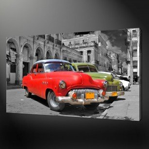CUBAN CARS CANVAS PRINT PICTURE WALL ART