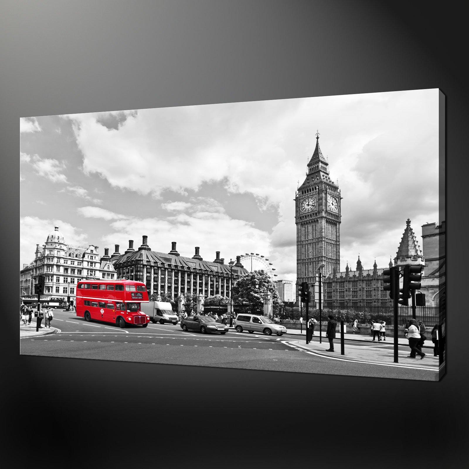 CITY LONDON BIG BEN CANVAS PRINT PICTURE