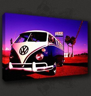 CAMPER VW CANVAS PRINT PICTURE WALL ART