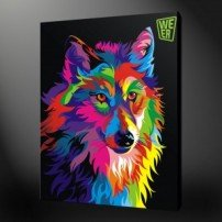 wolf canvas print picture