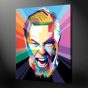 JAMES HETFIELD METALLICA POP ART CANVAS PRINT