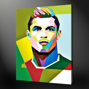 CRISTIANO RONALDO CANVAS PRINT POP ART