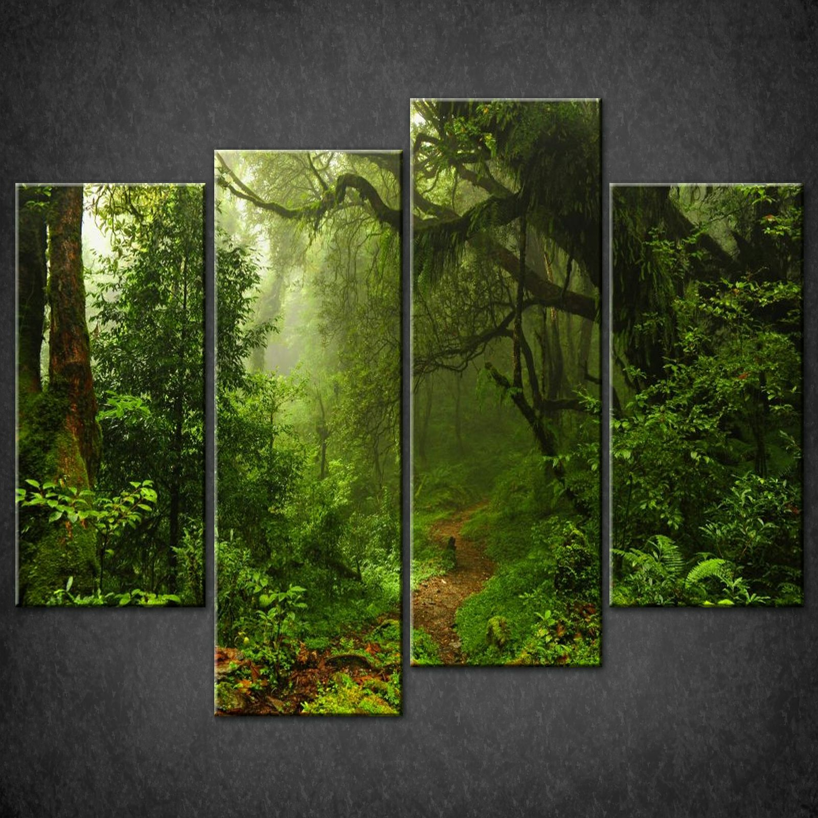 Path In The Forest Canvas Print Picture Wall Art