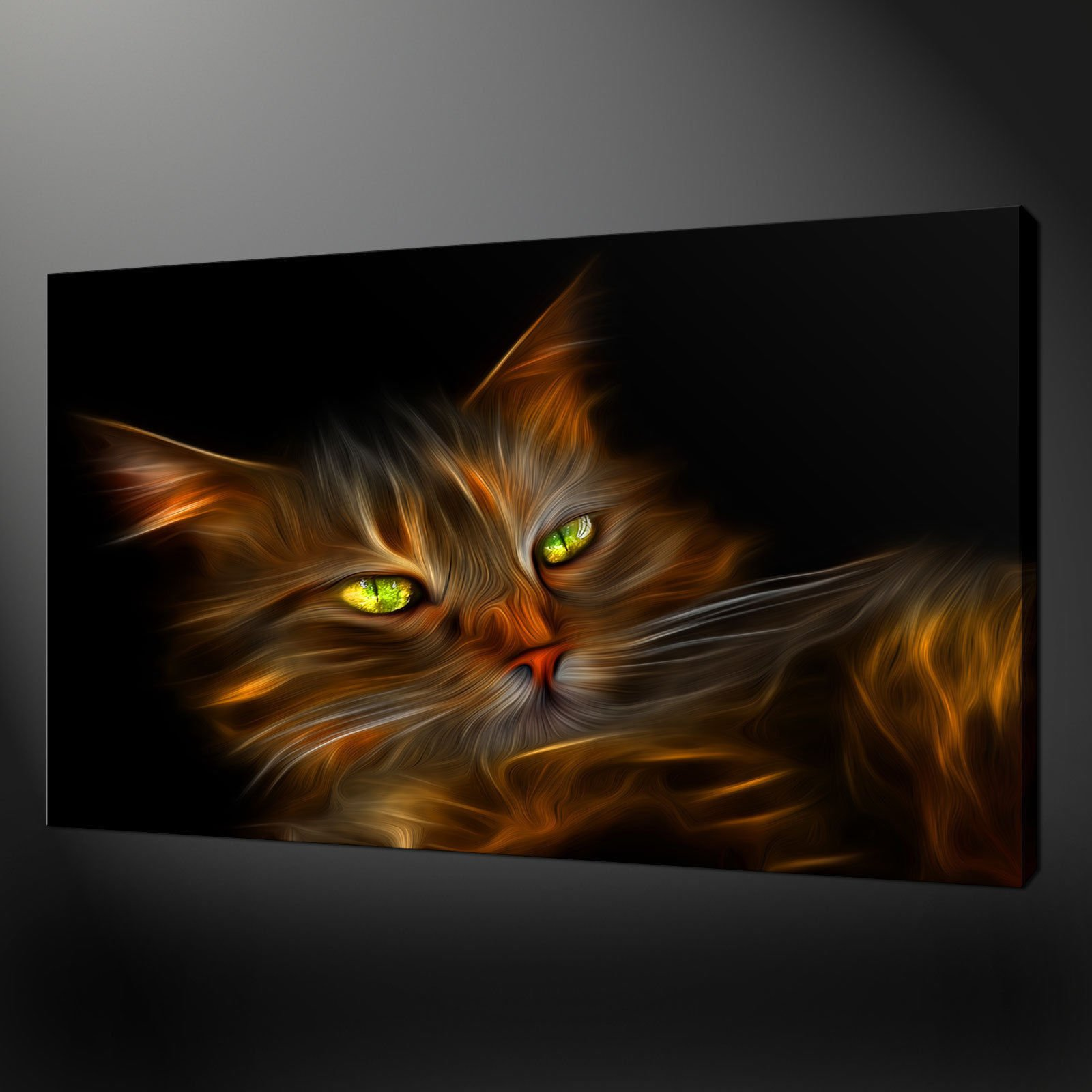 Canvas print pictures high quality handmade free next for Cat paintings on canvas