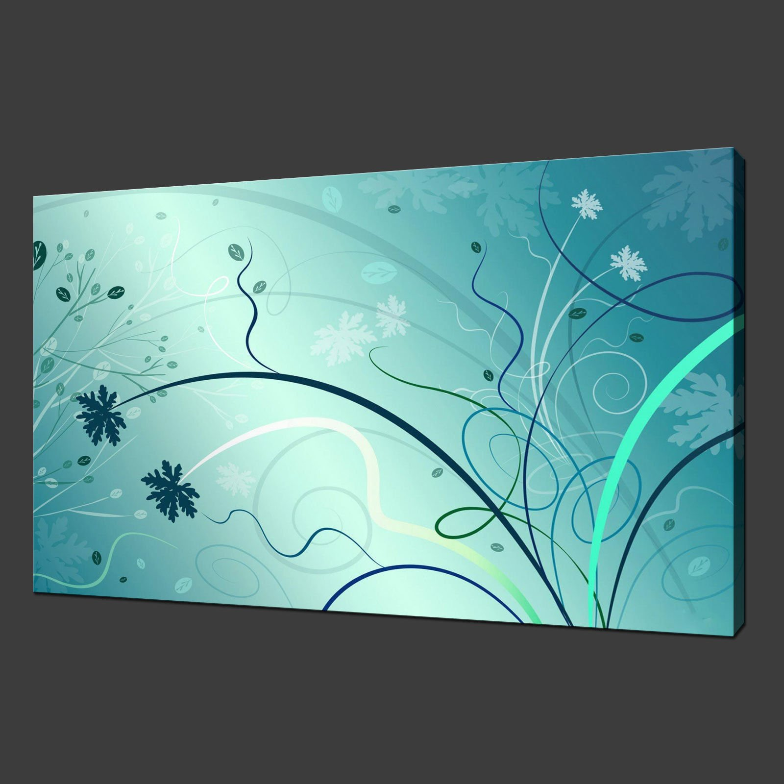 ABSTRACT FLORAL CANVAS WALL ART ...