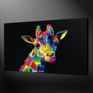 canvas print pictures giraffe