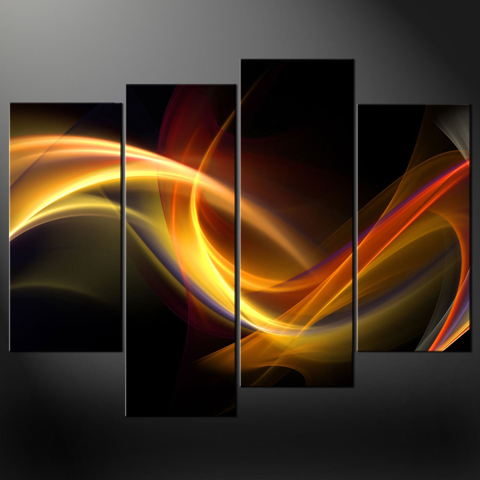 ABSTRACT LIGHTS CANVAS PRINT PICTURE WALL ART