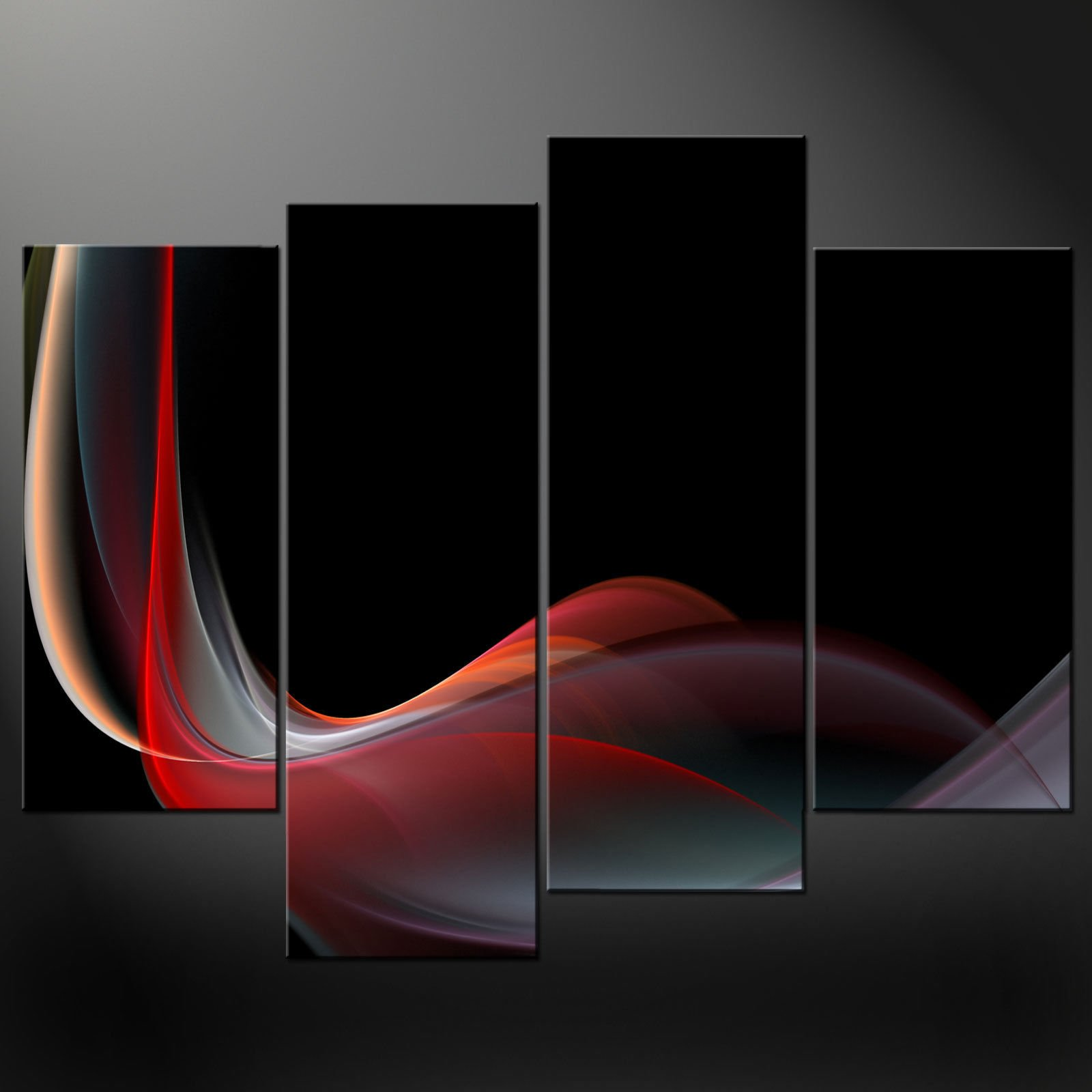 red waves canvas wall art pictures prints decor larger homed