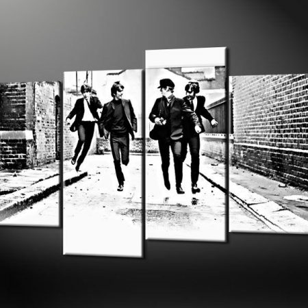 THE BEATLES CANVAS WALL ART PICTURE PRINT