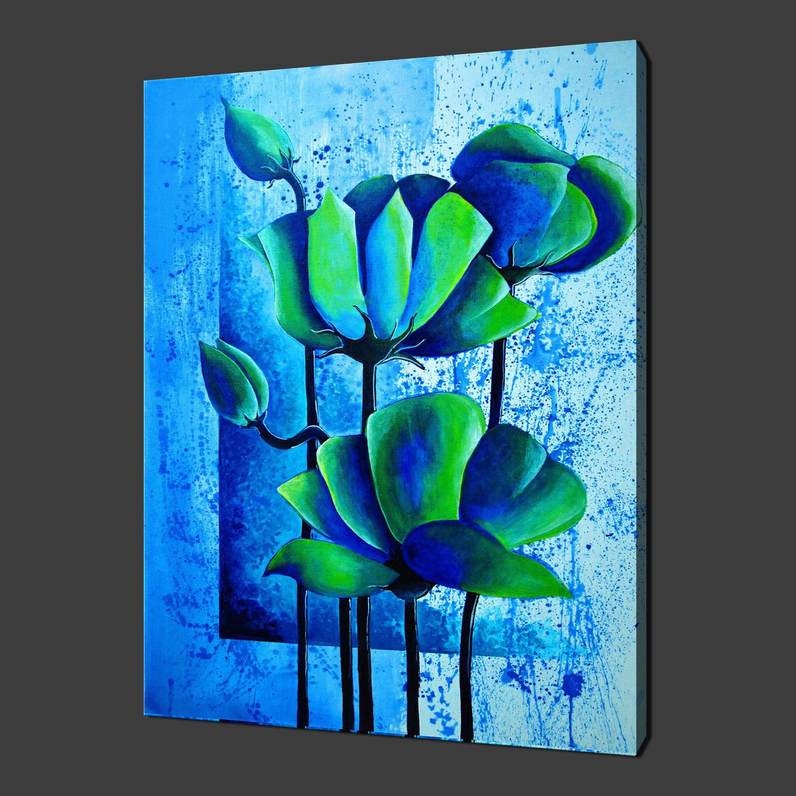 Canvas print pictures high quality handmade free next for Flower paintings on canvas