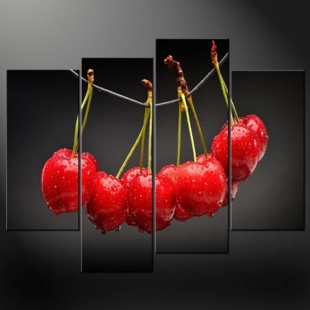 CHERRY CANVAS WALL ART PICTURE PRINT