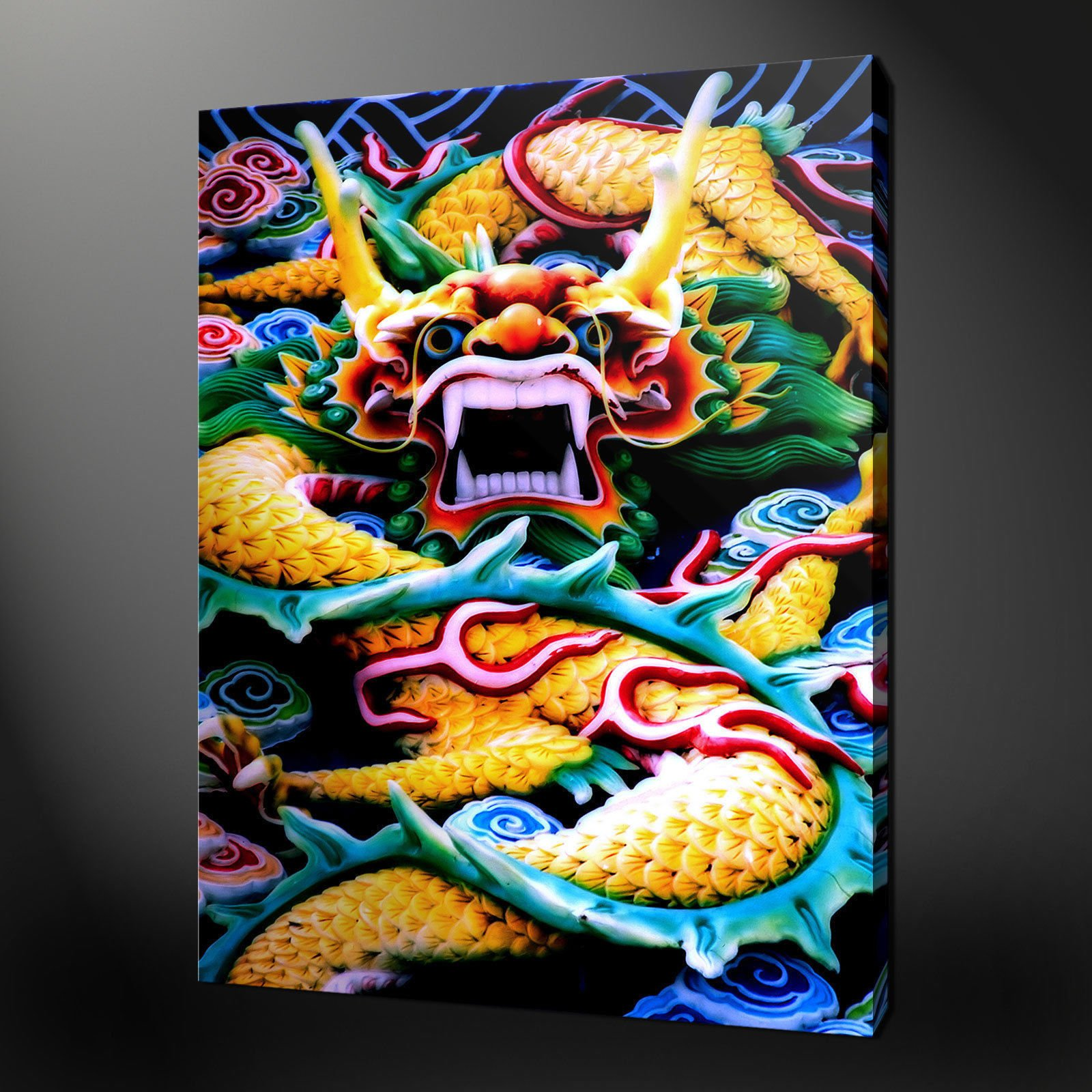 CHINESE DRAGON CANVAS WALL ART ...