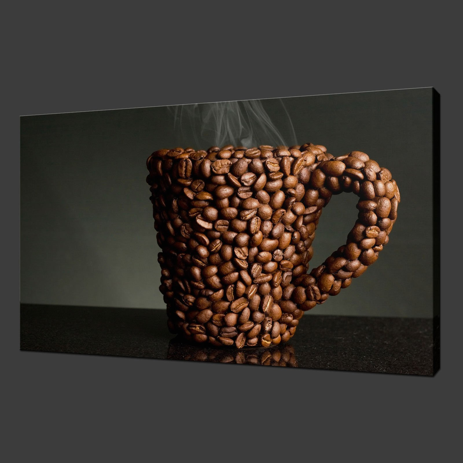 Kitchen Canvas Wall Art coffee mug kitchen canvas wall art pictures prints 30 x 20 inch