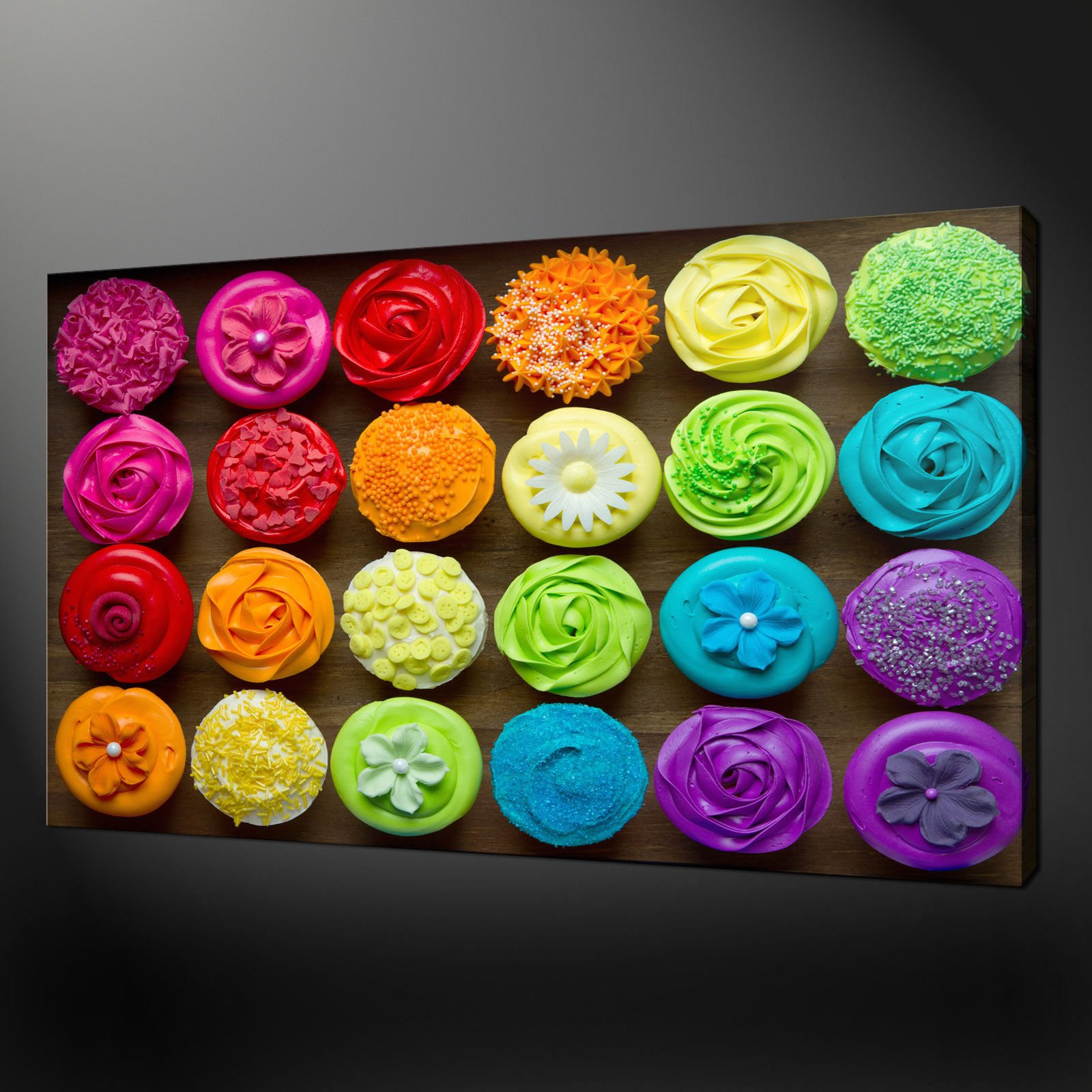 CUPCAKES CANVAS PRINT PICTURE