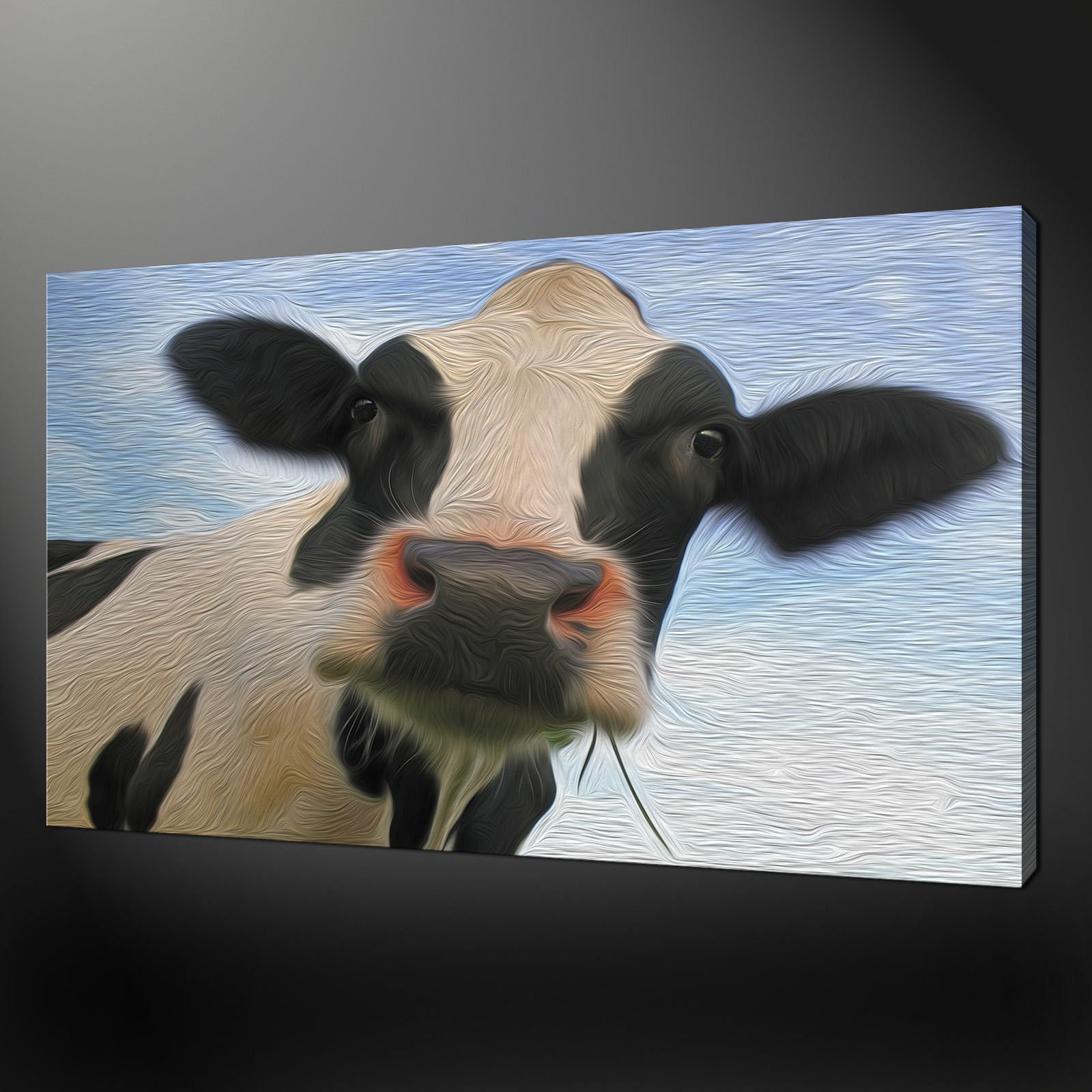 Cow Wall Art cow gaze wall art canvas print picture painting style variety