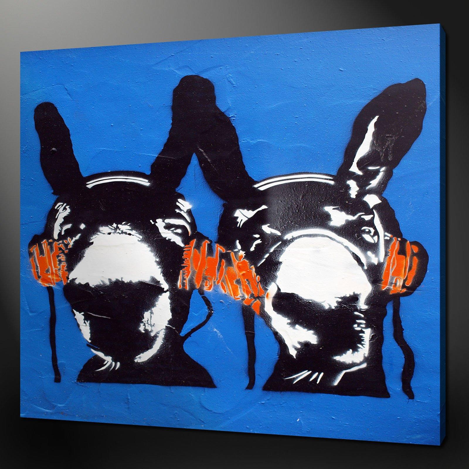 Donkey dj music funky modern design canvas print art 12x12 free uk pp
