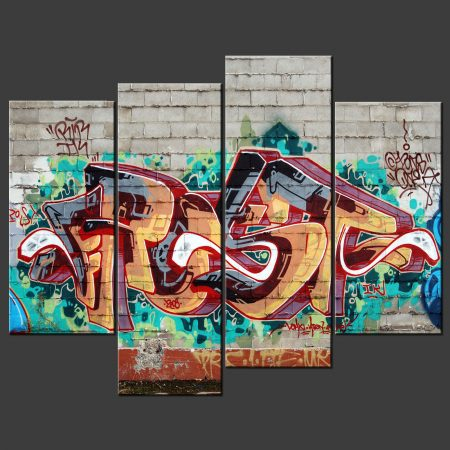 GRAFFITI CANVAS PICTURE PRINT WALL ART
