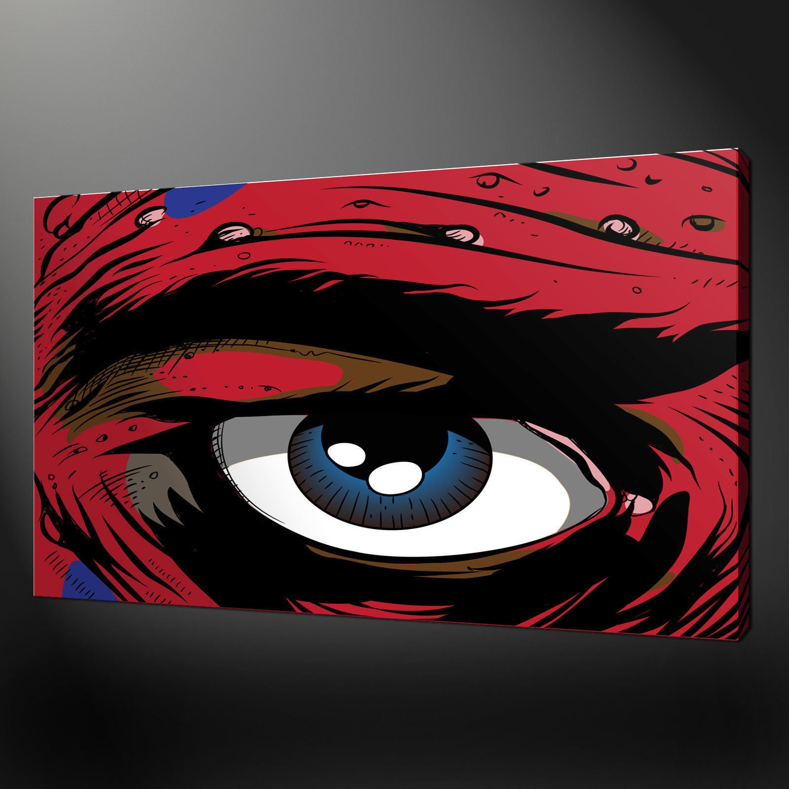 Graffiti eye canvas wall art