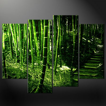 GREEN BAMBOO TREES SPLIT CANVAS WALL ART PICTURES PRINTS LARGER SIZES  AVAILABLE