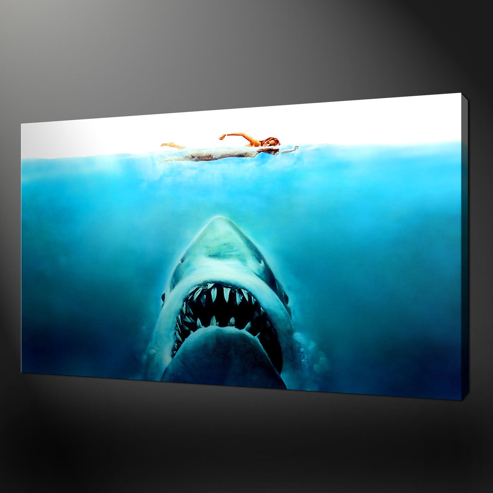 JAWS THE MOVIE CANVAS WALL ART PICTURES PRINTS FREE UK P&P VARIETY ...