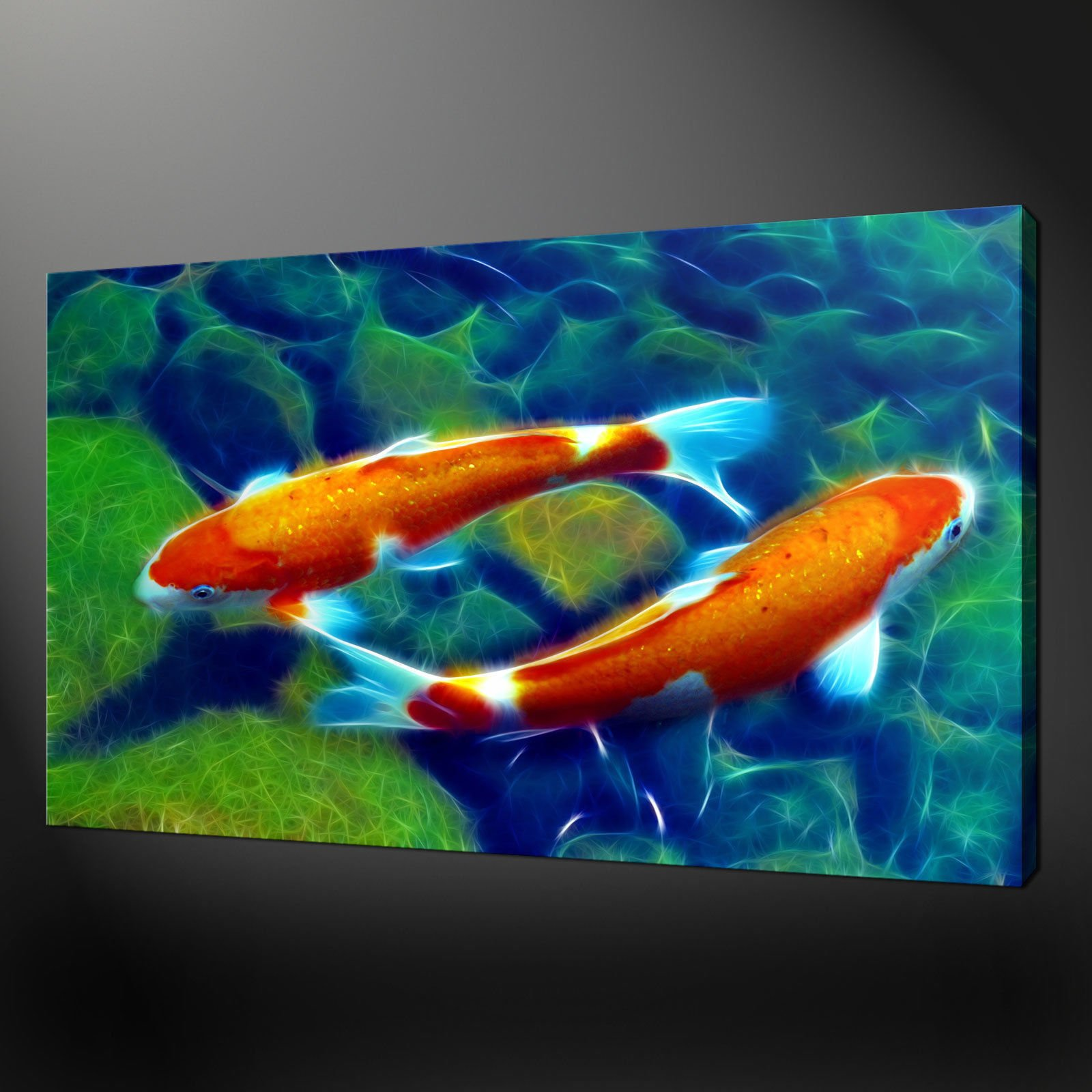 Canvas print pictures high quality handmade free next for Koi prints canvas