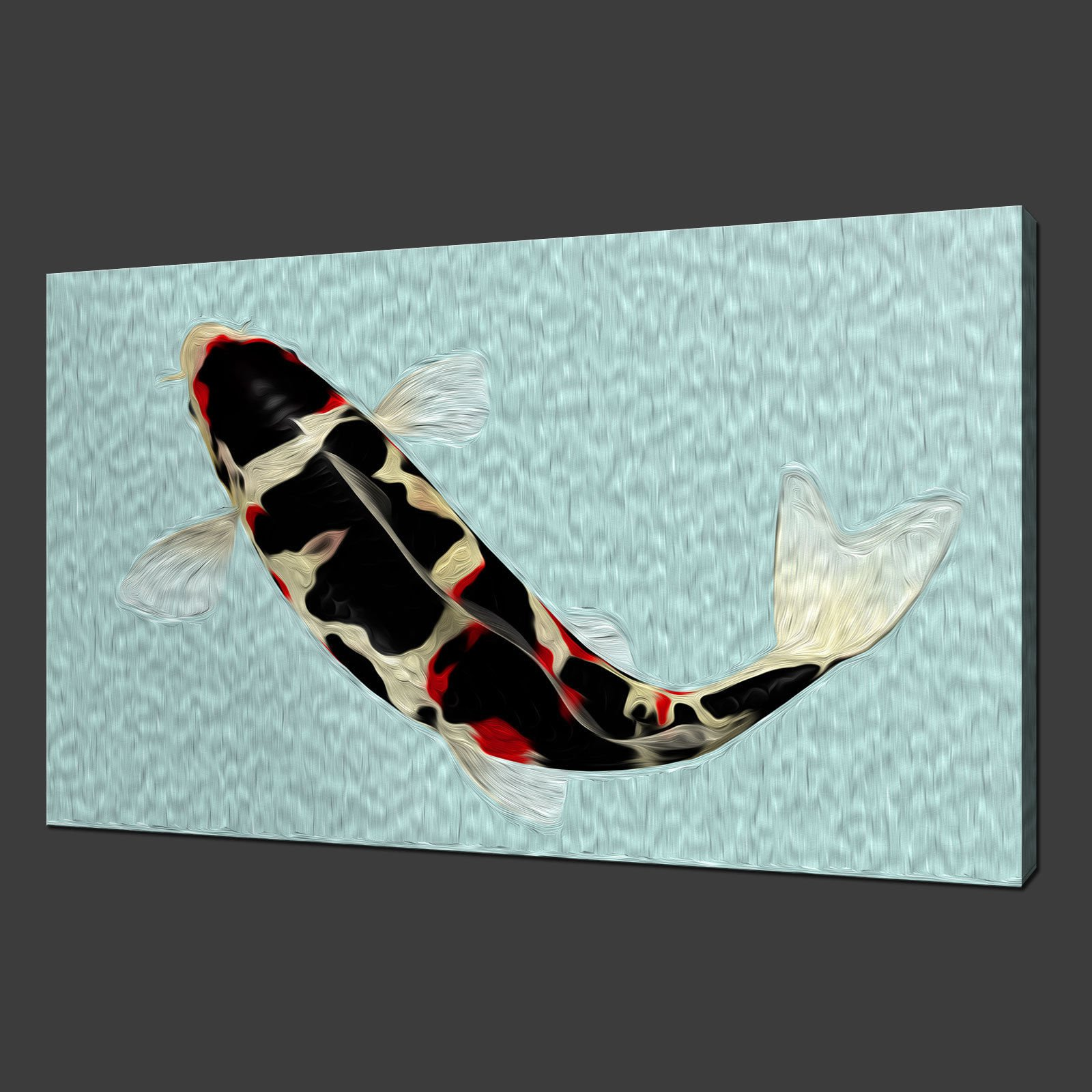 Canvas print pictures high quality handmade free next for Koi canvas print