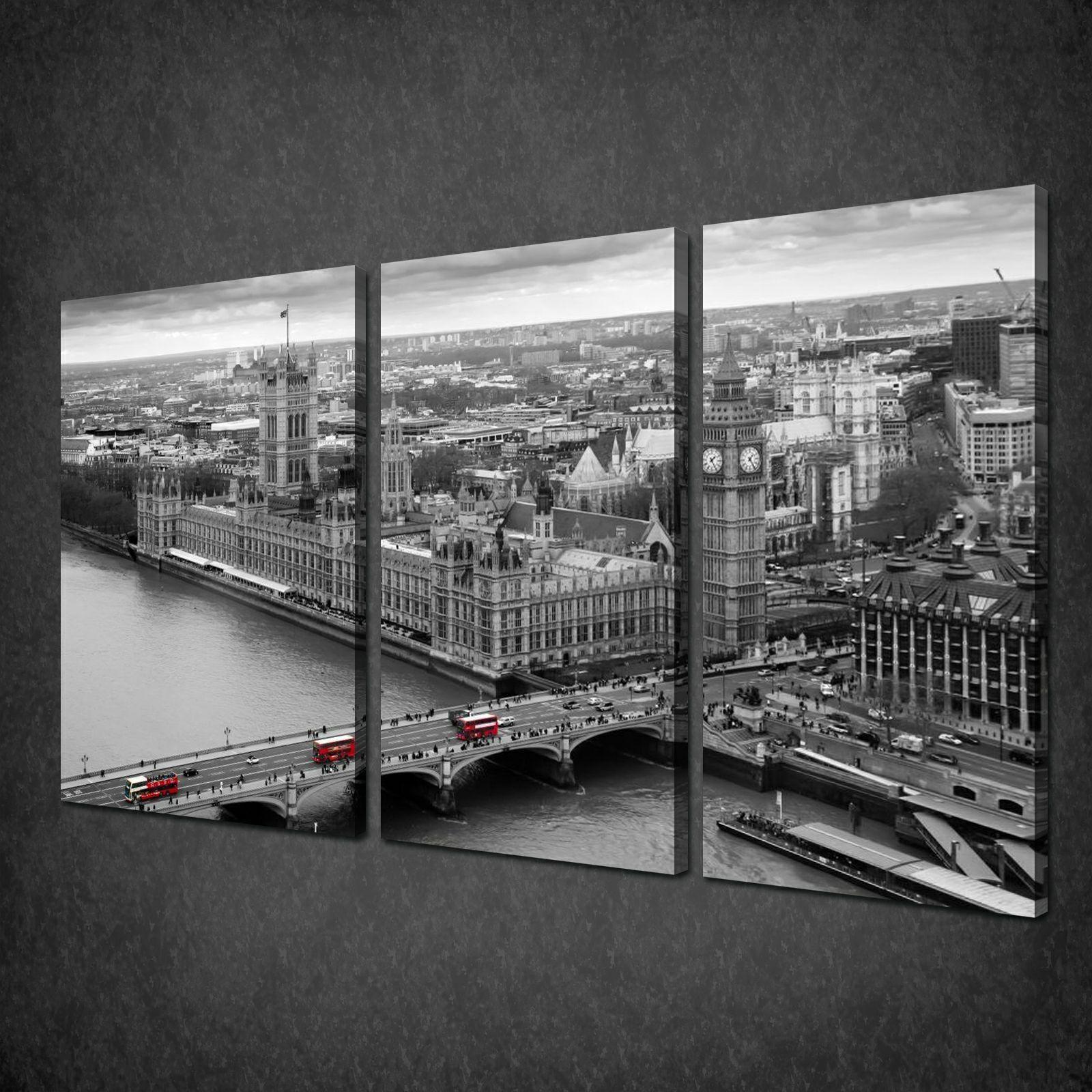London Wall Art light in london city skyline cascade canvas print picture wall art