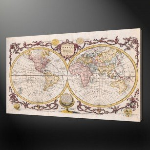 WORLD MAP CANVAS PRINT PICTURE ART