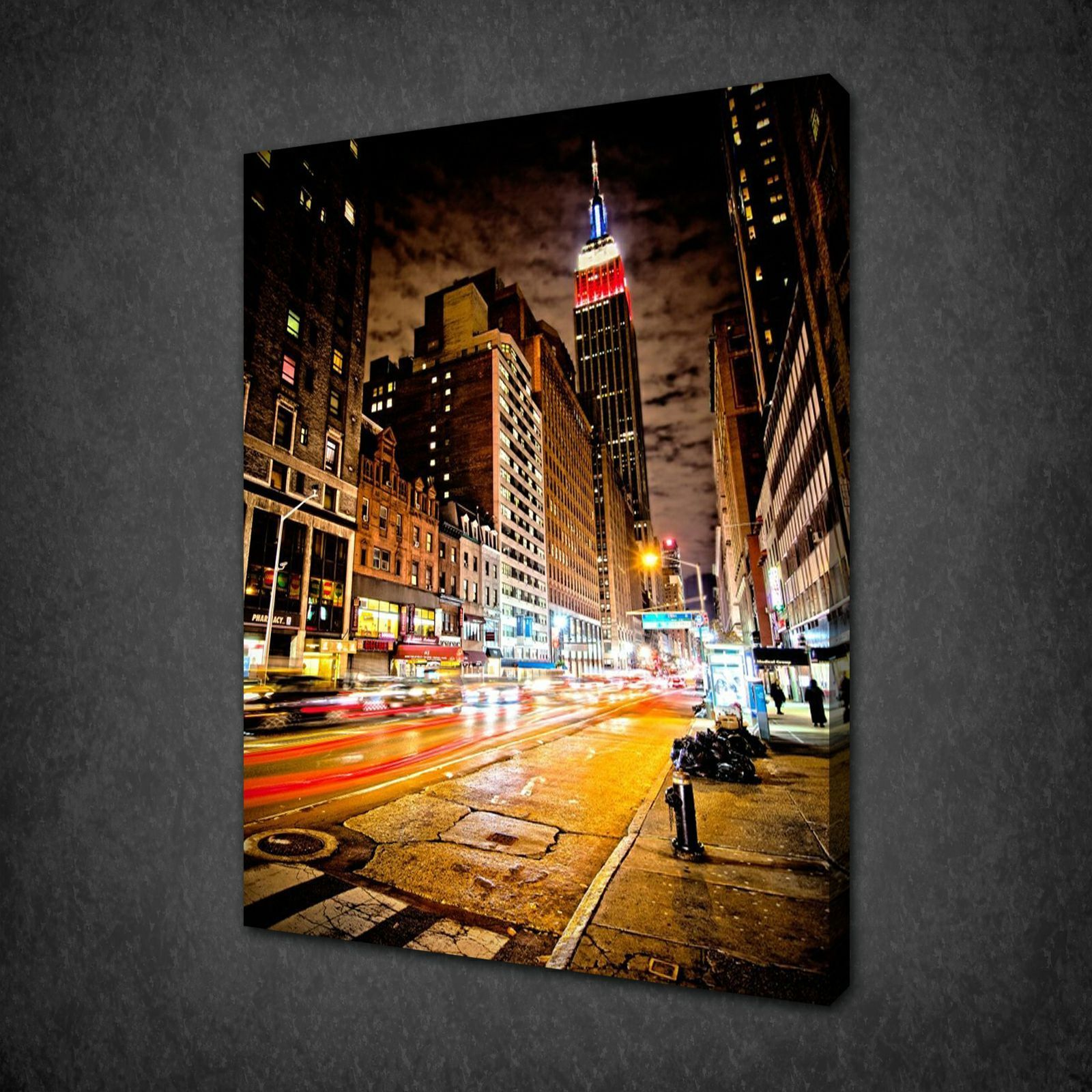 New York City Picture Canvas Painting Modern Wall Art: Canvas Print Pictures. High Quality, Handmade, Free Next
