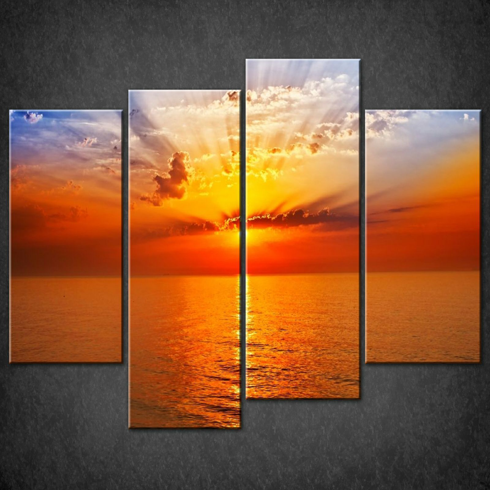 Wall Decorations Orange : Canvas print pictures high quality handmade free next