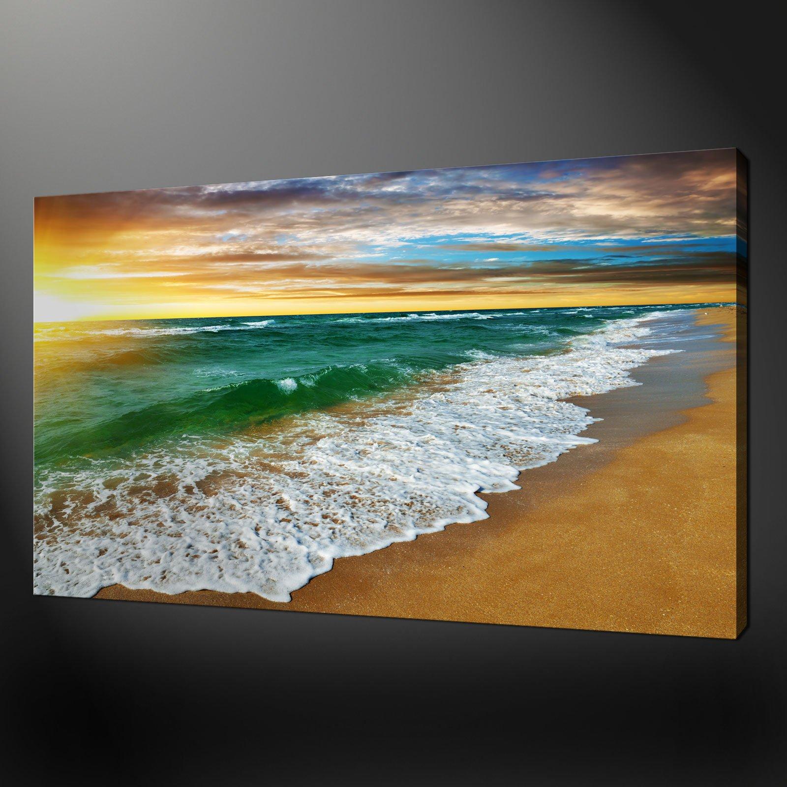 Sandy Beach: Canvas Print Pictures. High Quality, Handmade, Free Next